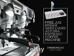 Astoria 4 group Espresso Coffee Machine Stainless Steel Free Milk jug Rinser
