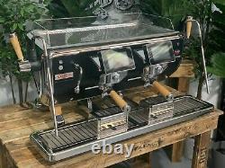 Astoria Storm 2 Group Black And Timber Brand New Espresso Coffee Machine Cafe