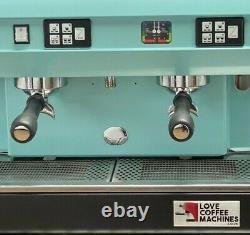CMA Astoria 2 Group Lisa Coffee Espresso Machine Beautiful Duck Egg Blue
