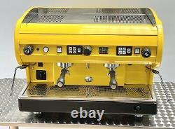 CMA Astoria 2 Group Lisa Coffee Espresso Machine Bright & Bold Yellow