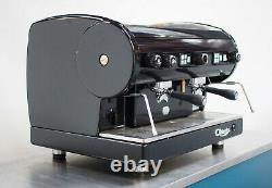CMA Astoria 2 Group Lisa Coffee Espresso Machine Deep Lustrous Black