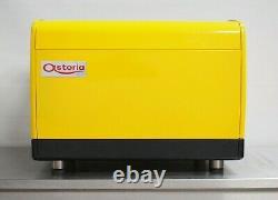 CMA Astoria 2 Group Lisa Coffee Espresso Machine Groovy Vibrant Yellow