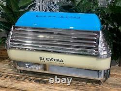 Elektra Barlume 2 Group Blue And Cream Espresso Coffee Machine Commercial Cafe