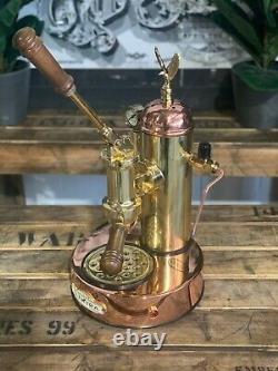 Elektra Micro Casa Leva 1 Group Brand New Gold And Bronze Espresso Coffee Machin
