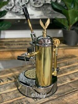 Elektra Micro Casa Leva 1 Group Brand New Gold Chrome Espresso Coffee Machine