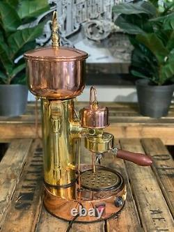 Elektra Micro Casa Semi Automatica 1 Group Gold Bronze Espresso Coffee Machine