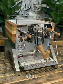 Elektra Verve Levetta 1 Group Brand New Stainless Timber Espresso Coffee Machine