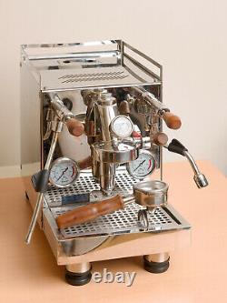 Espresso machine with E61 group head and rotary vane pump