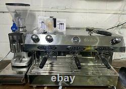 Fracino contempo 3 group espresso coffee machine + mazzer grinder + draw + kit