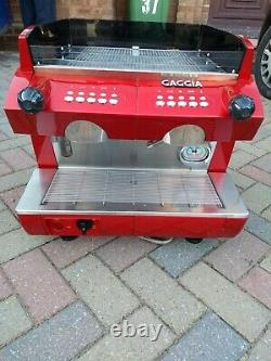 GAGGIA GD Compact 2 Group Espresso Coffee Machine RED Used, VGC Collection