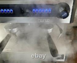 GRIGIA PROMAC Green CME 2 Group Commercial Coffee Espresso Machine + Knock Box