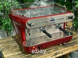 Gaggia Deco Dp 2 Group Red Espresso Coffee Machine Commercial Cafe Cart Barista