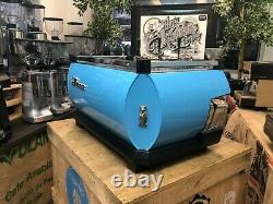 La Marzocco Gb5 3 Group Custom Baby Blue Espresso Coffee Machine Commercial Cafe