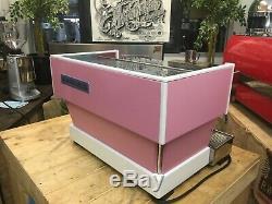 La Marzocco Linea Classic 2 Group Custom Pink Espresso Coffee Machine Commercial