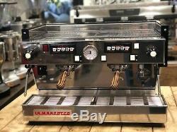 La Marzocco Linea Classic 2 Group White Timber Handles Espresso Coffee Machine