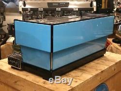 La Marzocco Linea Classic 3 Group Baby Blue Espresso Coffee Machine Commercial