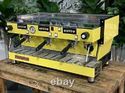 La Marzocco Linea Classic 3 Group Yellow Espresso Coffee Machine Custom Barista