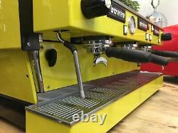 La Marzocco Linea Classic 3 Group Yellow Espresso Coffee Machine Maker Cafe