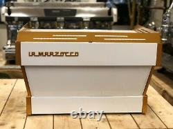 La Marzocco Linea Pb 2 Group Custom White & Gold Espresso Coffee Machine