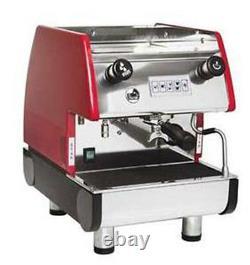 La Pavoni Commercial Espresso Machine Maker PUB 1V-R Red, 1 Group, Volumetric