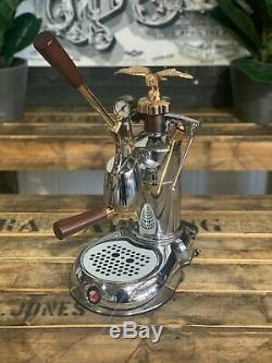 La Pavoni Expo 1 Group Leva Gold Brand New Espresso Coffee Machine Domestic Cafe