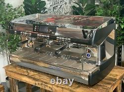 Nuova Simonelli Aurelia II 3 Group High Cup Black Espresso Coffee Machine Cafe