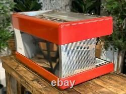 Nuova Simonelli Program Semi Automatic 2 Group Red Espresso Coffee Machine Cafe