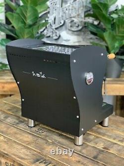 Orchestrale Nota Brand New Matte Black & Timber 1 Group Espresso Machine Home