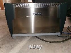 Rancilio 2-group commercial espresso/cappuccino coffee machine with knock box
