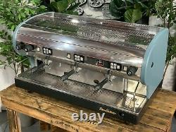 San Marino Lisa 3 Group Blue Green Espresso Coffee Machine Commercial Custom Bar