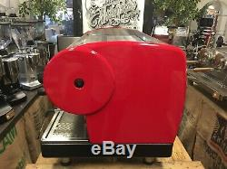 San Marino Lisa 3 Group Red Espresso Coffee Machine Commercial Showroom Cafe