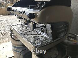 San Remo Verona 2 Group White Espresso Coffee Machine Commercial