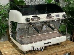 San Remo Verona Rs High Cup 2 Group White Espresso Coffee Machine Commercial