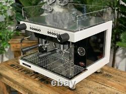 San Remo Zoe 2 Group Compact Brand New White Espresso Coffee Machine Commercial
