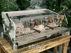 Slayer Espresso V3 3 Group White & Timber Espresso Coffee Machine Custom Cafe