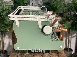 Synesso Cyncra 3 Group Custom Green, White & Timber Espresso Coffee Machine Cafe