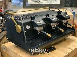 Synesso Sabre 3 Group Black Gold Custom Espresso Coffee Machine Commercial Cafe