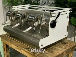 Synesso Sabre 3 Group White Espresso Coffee Machine W. Pesado Group Handles
