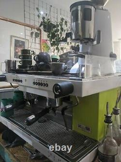 Traditional Espresso Coffee Machine (Sanremo Zoe 2 Group) Lime Green + grinder