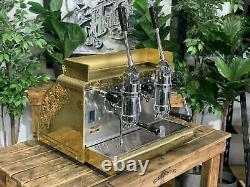Victoria Arduino Athena Leva 2 Group Gold Espresso Coffee Machine Commercial Bar