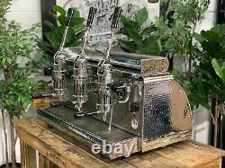 Victoria Arduino Athena Leva 3 Group Silver Espresso Coffee Machine Commercial