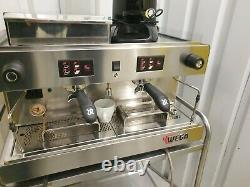 Wega 2 Group Espresso Coffee Machine Wega Coffee Grinder Knock Out Drawer