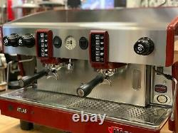 Wega Atlas 2 Group Red Espresso Coffee Machine Commercial Cafe Barista Beans Cup