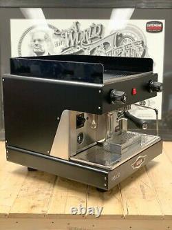 Wega Pegaso 1 Group Semi Automatic Brand New Black Espresso Coffee Machine Homw