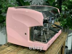 Wega Polaris 2 Group Baby Pink Espresso Coffee Machine Custom Commercial Cafe