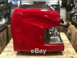 Wega Polaris 2 Group High Cup Red Espresso Coffee Machine Commercial Cafe Bar
