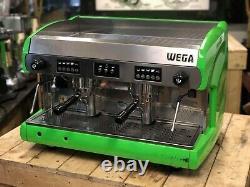 Wega Polaris 2 Group Lime Green Espresso Coffee Machine Commercial Cafe Home