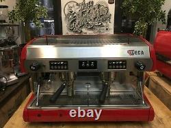 Wega Polaris 2 Group Red Espresso Coffee Machine Commercial Cafe Barista Bar