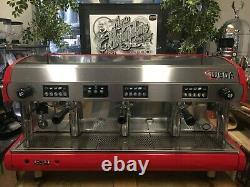 Wega Polaris 3 Group High Cup Red Espresso Coffee Machine Commercial Cafe Bar