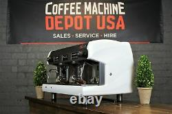 Wega Polaris High Cup 2 Group White with Wood Commercial Espresso Machine